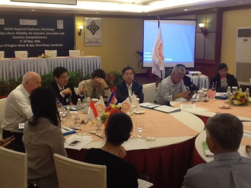 ASEAN A brainstorm with the Asean Confederation of Employers (ACE)