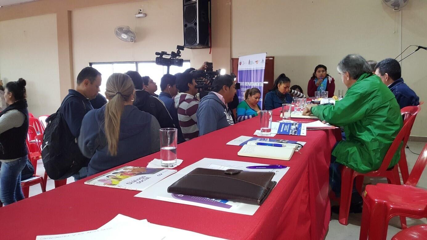Establishment of Industrial Safety Council. Santa Cruz, Bolivia