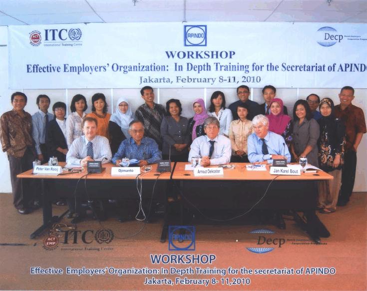 Workshop training APINDO secretariat